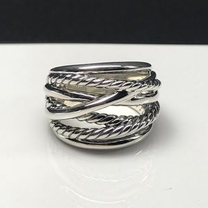 David Yurman Crossover Wide Ring Size 6